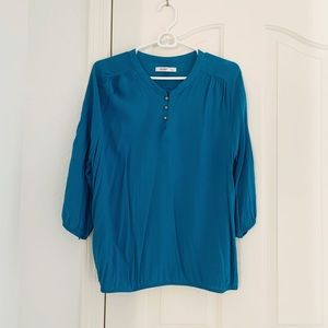 Old Navy Blue 3/4 Sleeve Blouse